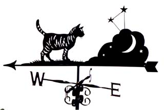 Cat with stars weather vane