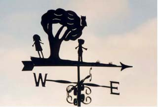 Childrens own design weather vane