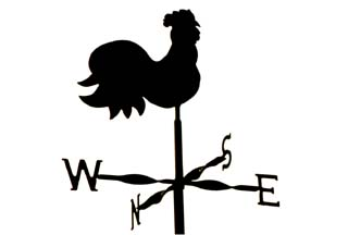 Cockerel no arrows weather vane