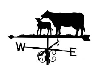 Cow and Calf weathervane