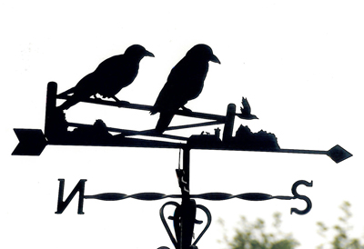 Crows on Gate weather vane