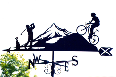 Cyclist Compilation weathervane