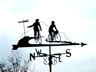 Cycling couple weathervane