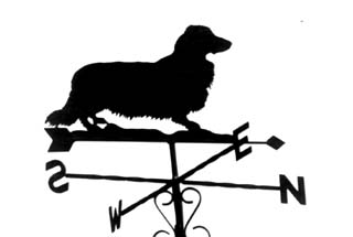 Dachshund Long-haired weather vane