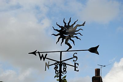 Dancing Sun weather vane