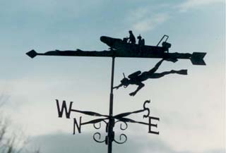 Diver weather vane