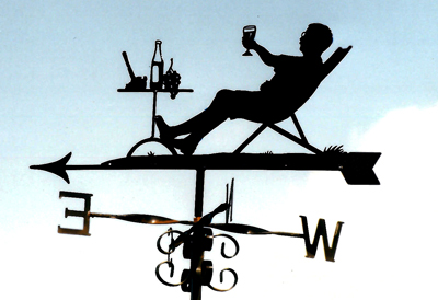 Drinking Wine weather vane