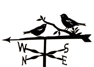Finches weather vane
