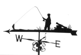 Fisherman with Kit weathervane