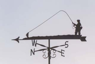 Fisherman weather vane