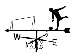 Footballer weathervane