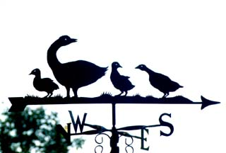 Geese Family weather vane