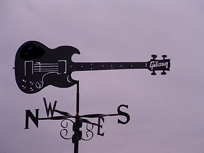guitar weather vane