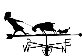 Goat with Lady weathervane