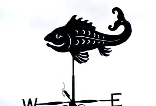 Happy Fish weathervane