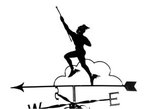 Hermes weather vane