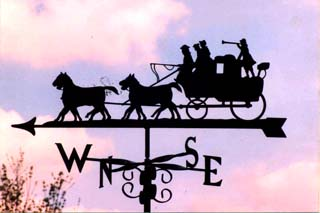 Horse and Carriage B weathervane