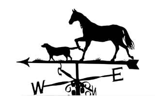 Horse and Dog weather vane