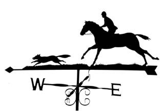 Huntsman and Fox weathervane