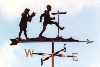 Lady Man and signpost weathervane