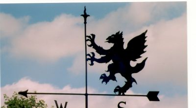 Griffin weather vane