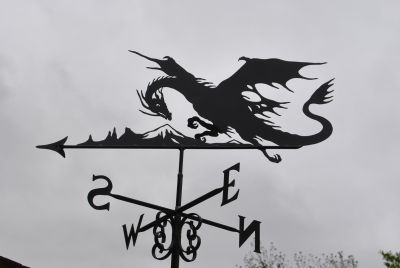 Dragon with mountain weathervane