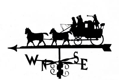 Horse and Carriage B weather vane