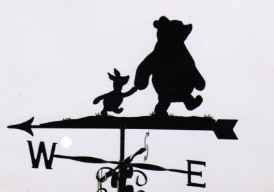 Winnie and Piglet weathervane