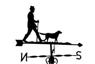 Man and Labrador weather vane
