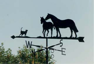 Mare Foal and Cat weathervane