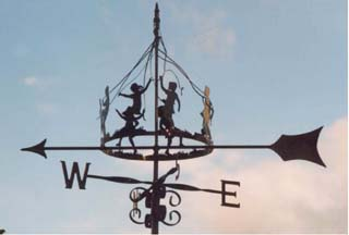 Maypole Children weather vane
