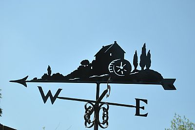 Watermill weather vane