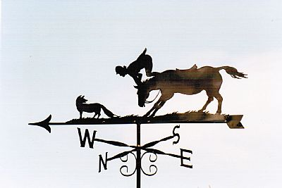 Oops!Horse and fox weather vane