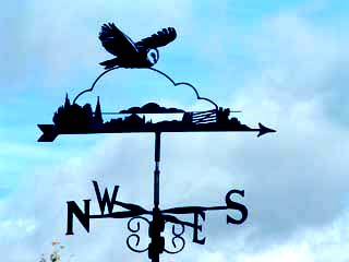 Owl in flight weathervane