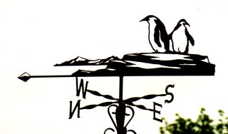 Penguins weathervane
