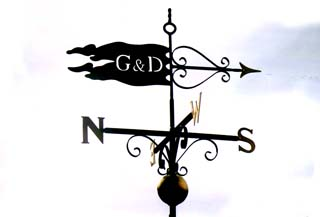 Pennant with Gold Leaf and Ball weather vane