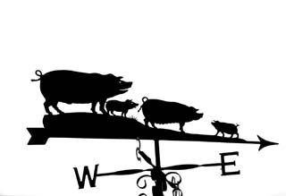Family of pigs weathervane