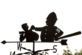 Policeman weather vane
