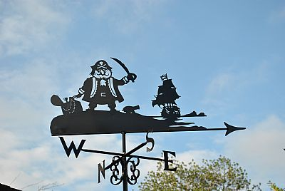 Captain Pugwash in copper weathervane