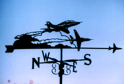 Red Arrows weather vane