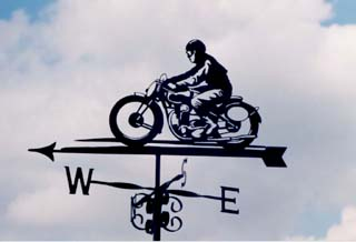 Rider weather vane