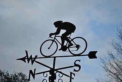 road bike weather vane