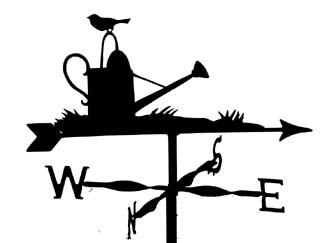 Robin on Watering Can weathervane