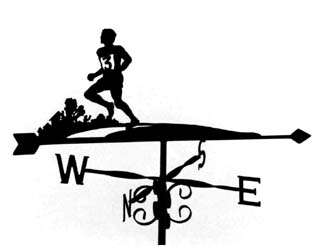 Runner weathervane