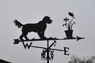 Schnauzer weather vane