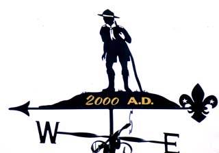 Scout with Gold Leaf weather vane