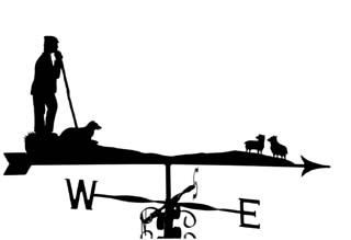 Shepherd on watch weathervane