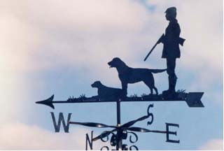 Shooting with Labradors weather vane
