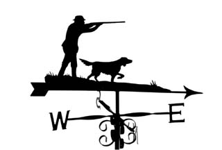 Shooting with Spaniel weathervane