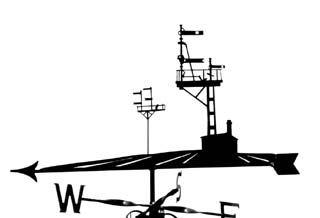 Signals weather vane